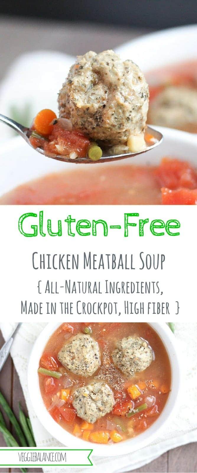 Chicken Meatball Soup {Gluten-Free} - Veggiebalance.com