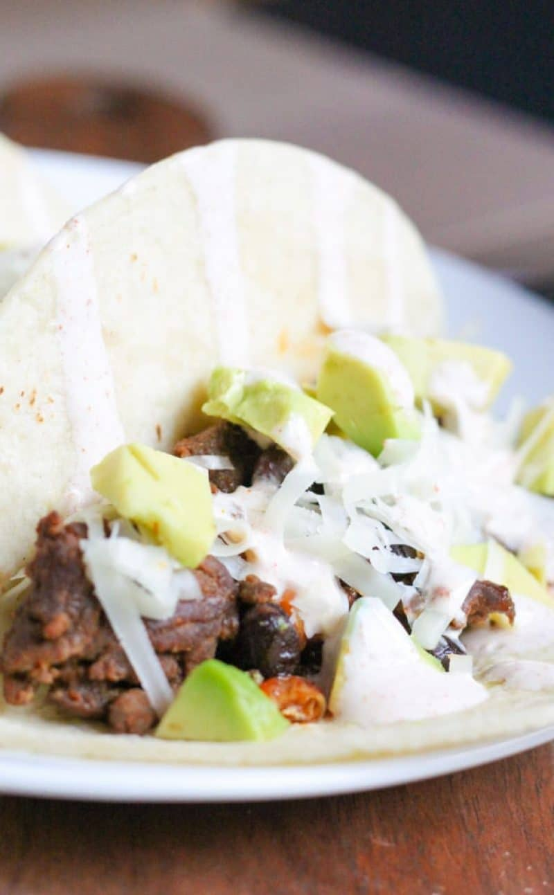 Chorizo Tacos with Black Beans Recipe