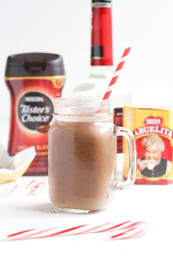 Hot Chocolate Toddy with Peppermint - Veggiebalance.com