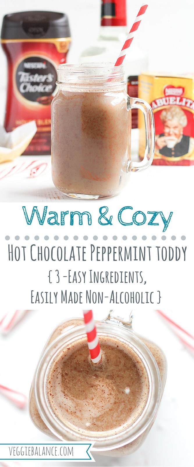 Hot Chocolate Toddy with Peppermint - Veggie Balance