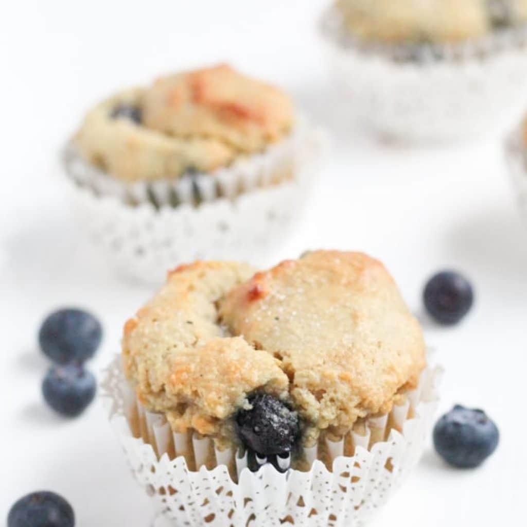 Gluten Free Blueberry Muffins (With Almond Flour)