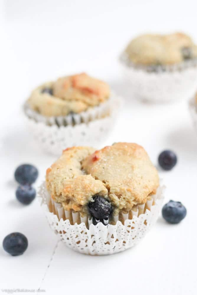 Gluten Free Blueberry Muffins With Almond Flour