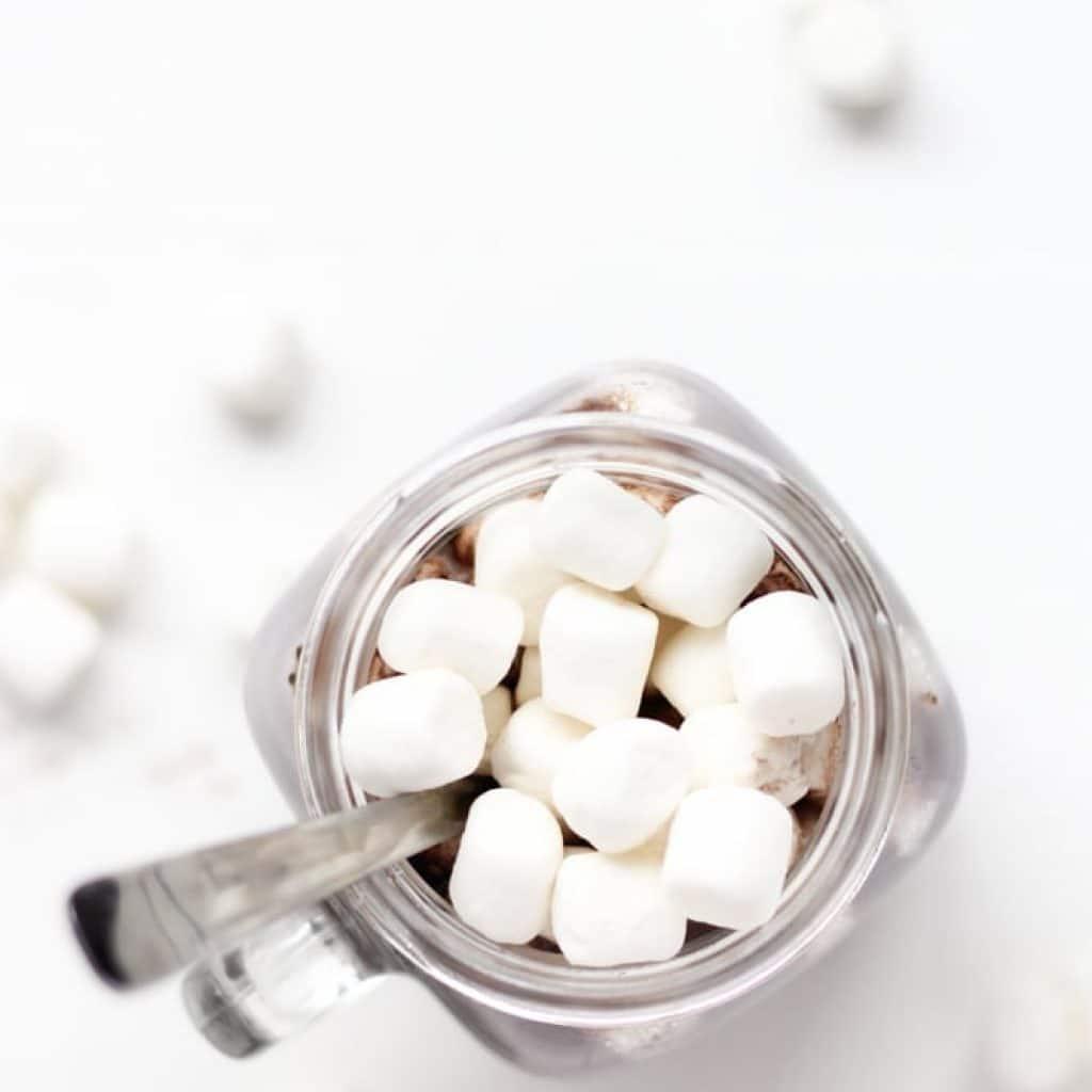 Healthy Hot Chocolate {Low-Sugar, Vegan, Dairy-Free}