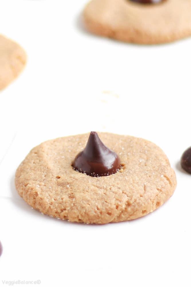 Peanut Butter Blossoms {Gluten-Free, Healthy} - Veggiebalance.com