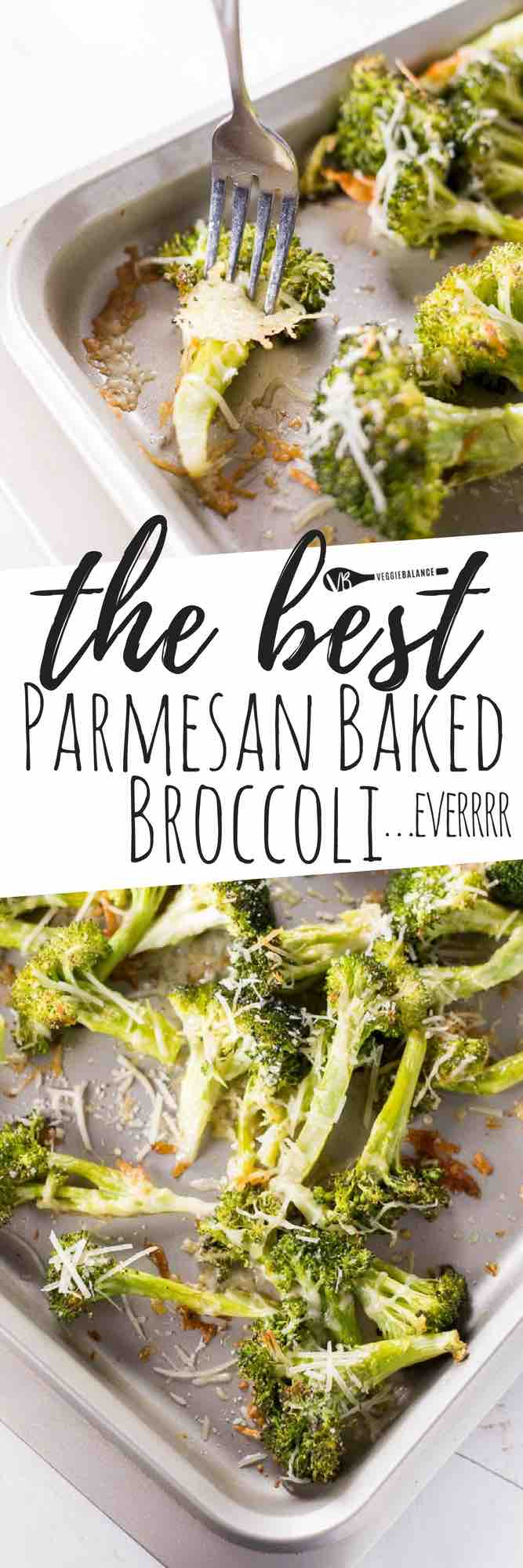 THE BEST and ONLY Parmesan Roasted Broccoli recipe you'll ever need. It is by far the easiest way to make this healthy and nutritious vegetable! Three easy ingredients is all you need! #glutenfree #healthy #healthyrecipes #recipes #vegetarian #vegetarianrecipes #glutenfreerecipes