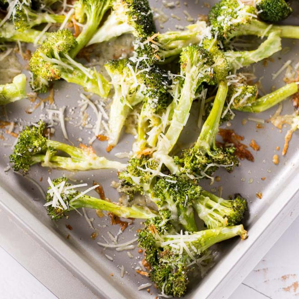 Parmesan Roasted Broccoli (AKA the Best Baked Broccoli Recipe Ever)