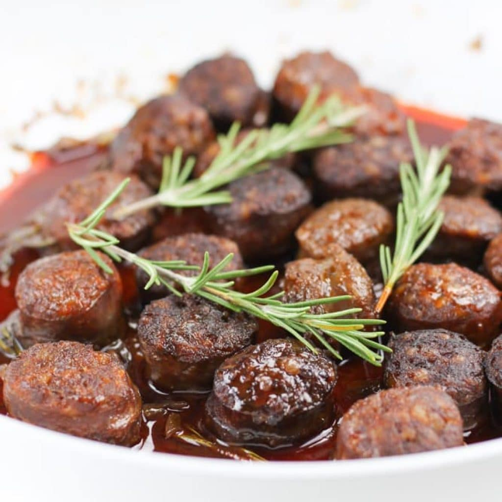 Chorizo in Red Wine with Rosemary