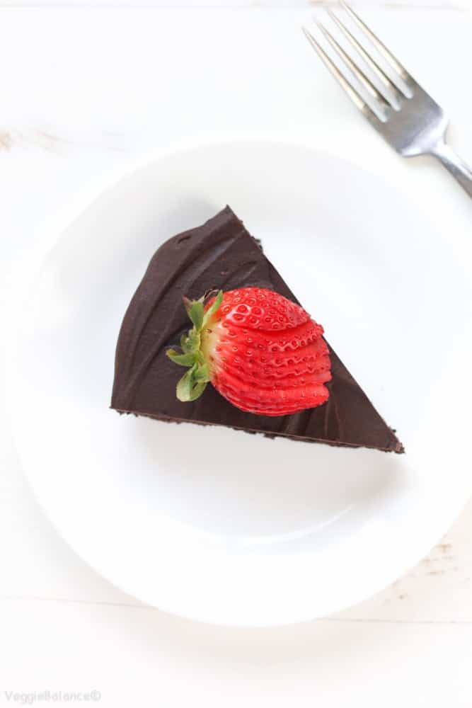Flourless Chocolate Cake recipe {Gluten-Free, Dairy-Free} - Veggiebalance.com