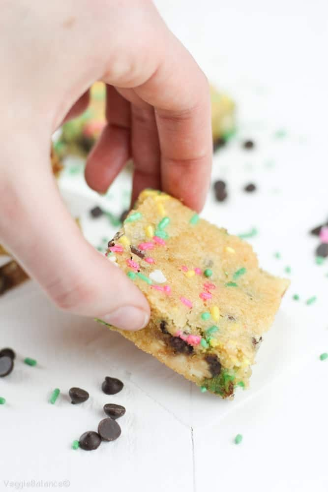 Gluten-Free Cake Batter Bars with Chocolate Chips-22 ...