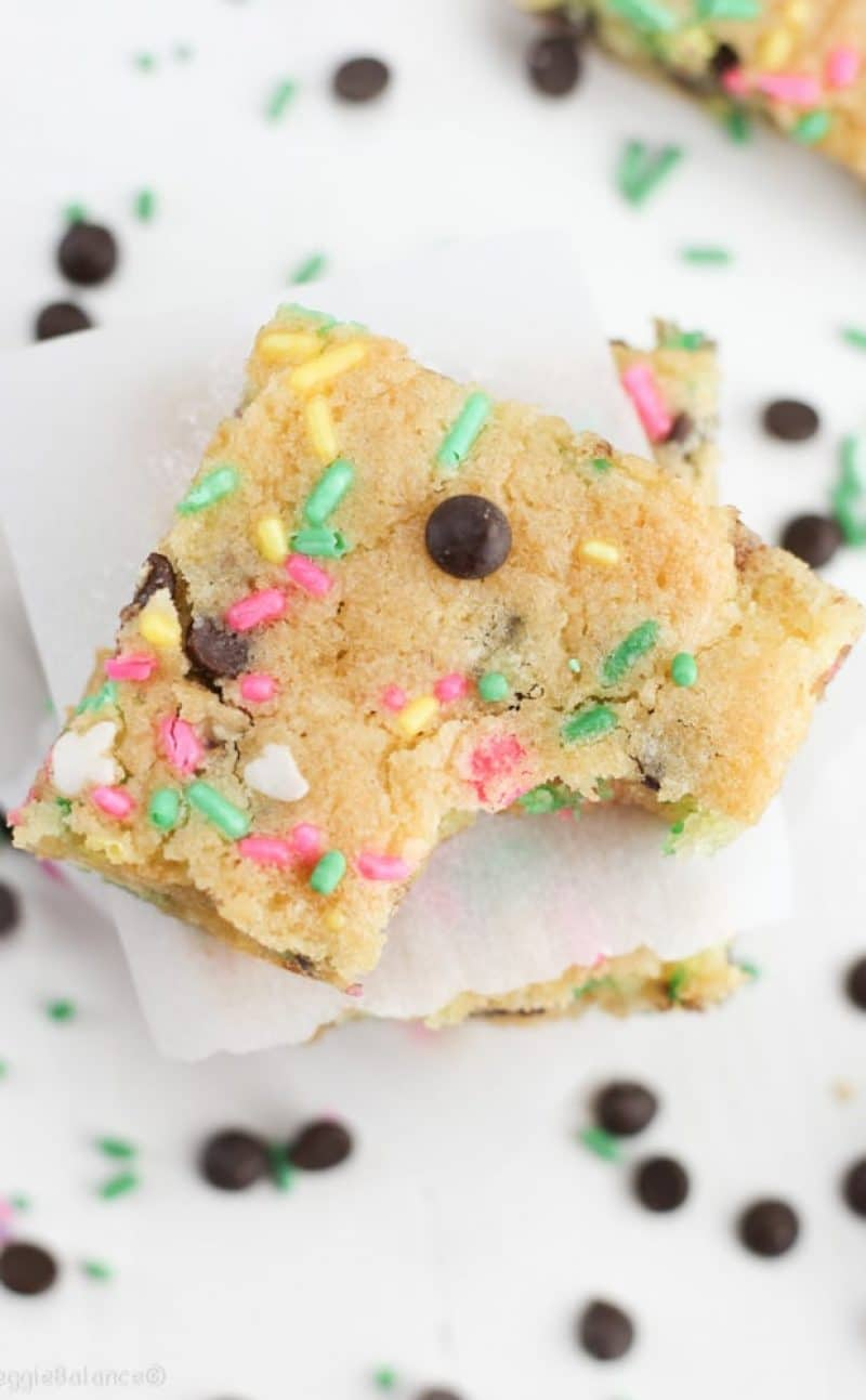 Cake Batter Blondies (Gluten-Free and Dairy-Free)