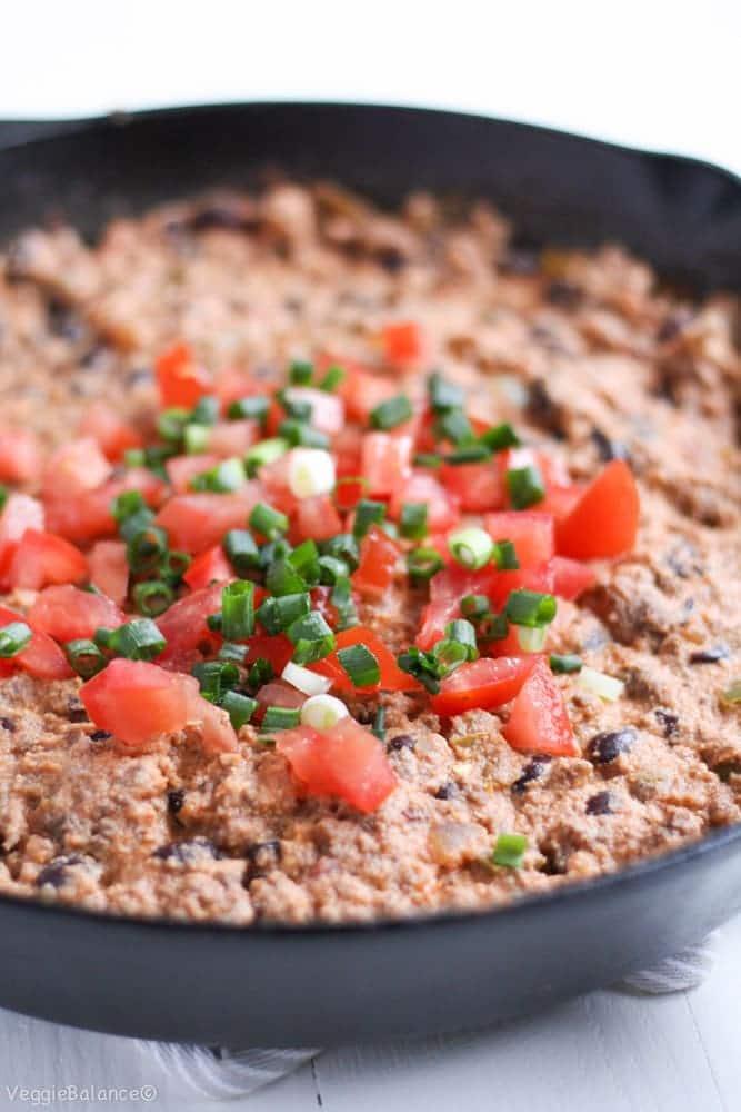 Healthy Taco Dip (Dairy-Free, Gluten-Free) -Veggiebalance.com