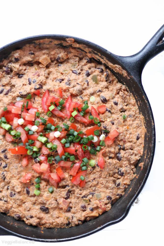 Healthy Vegan Taco Dip (Dairy-Free, Gluten-Free)- Veggiebalance.com
