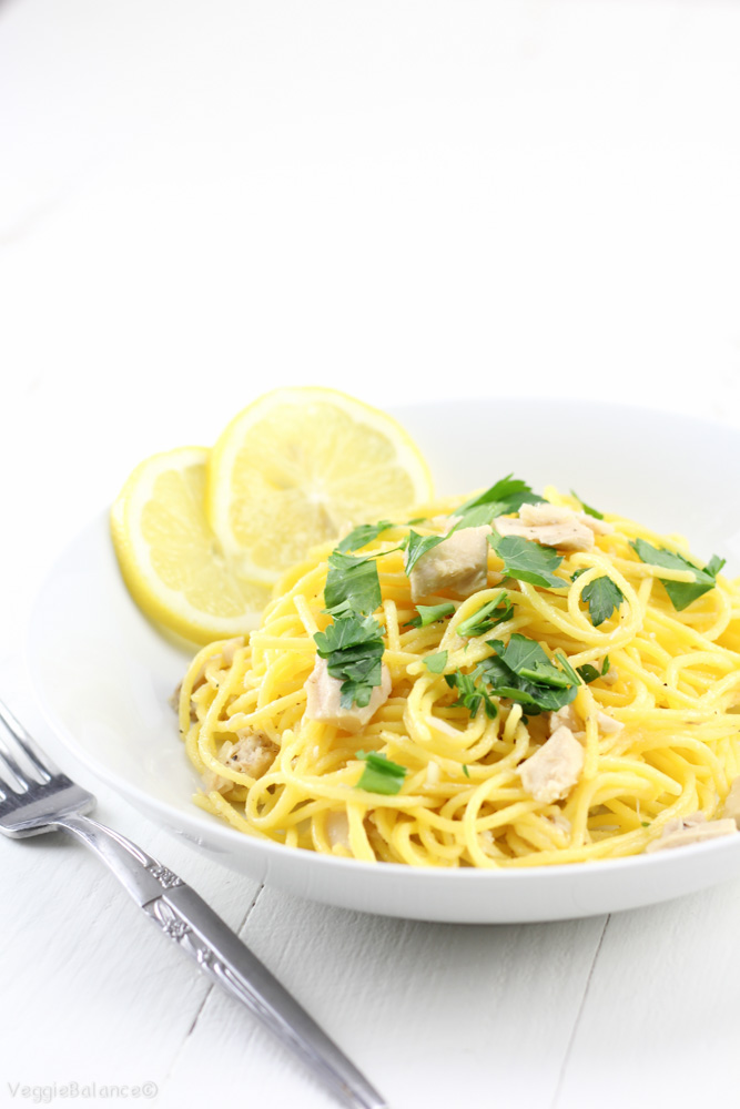 No, we'll quickly whip up a fresh, lemony pasta dish with protein ...