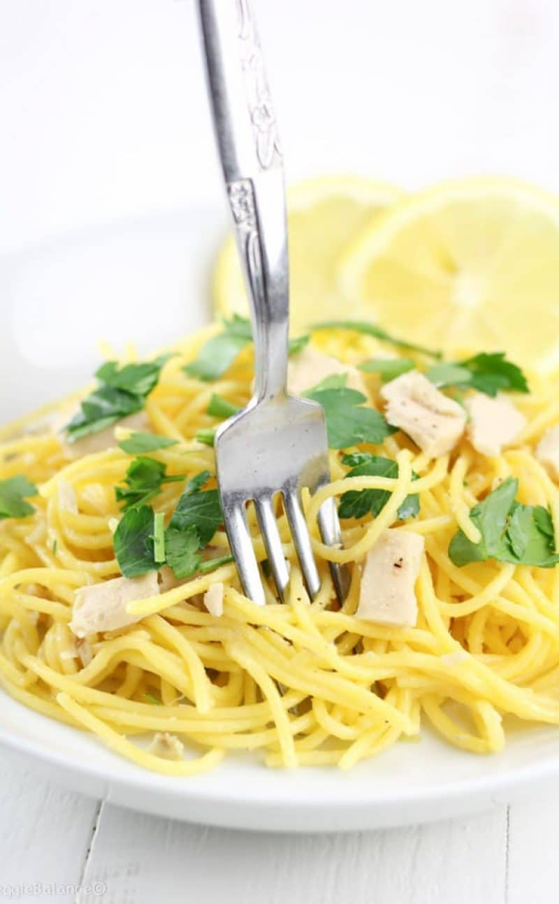 Lemon Tuna Olive Oil Pasta Recipe (Gluten-Free)
