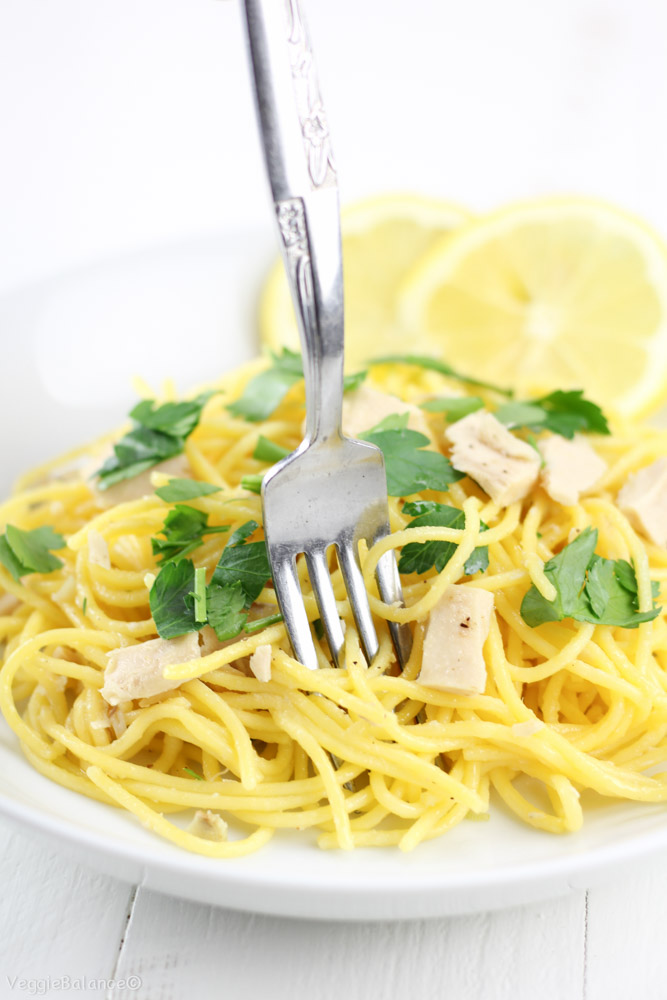 Spaghetti With Lemon And Olive Oil Recipe — Dishmaps