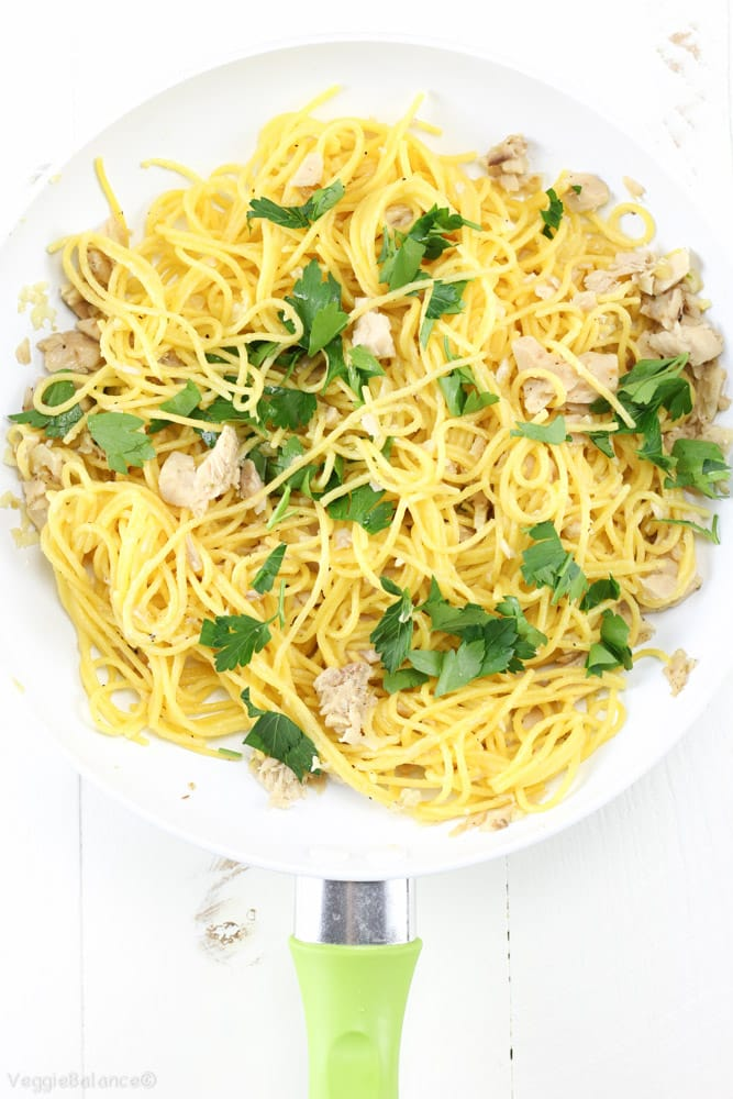 Lemon Tuna Olive Oil Pasta (Gluten-Free) - Veggiebalance.com