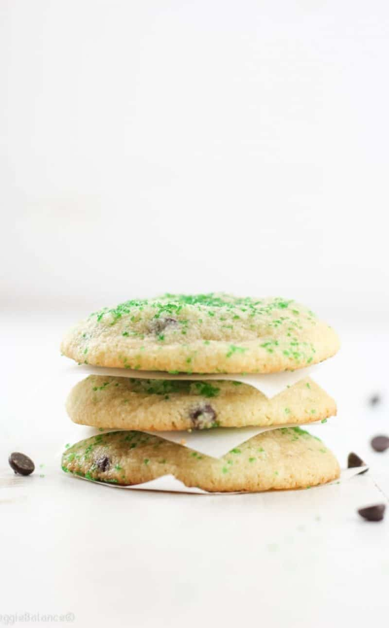 Mint Chocolate Chip Cookies (Gluten-Free)