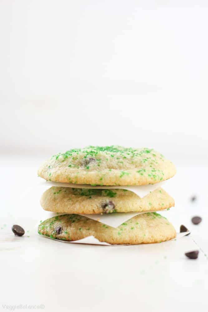 Mint Chocolate Chip Cookies (Gluten-Free) - Veggiebalance.com