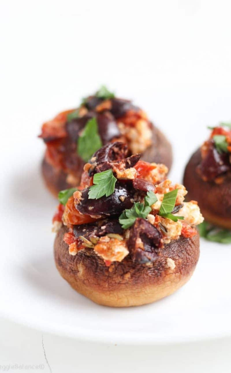 Stuffed Mushrooms Feta Roasted Tomatoes