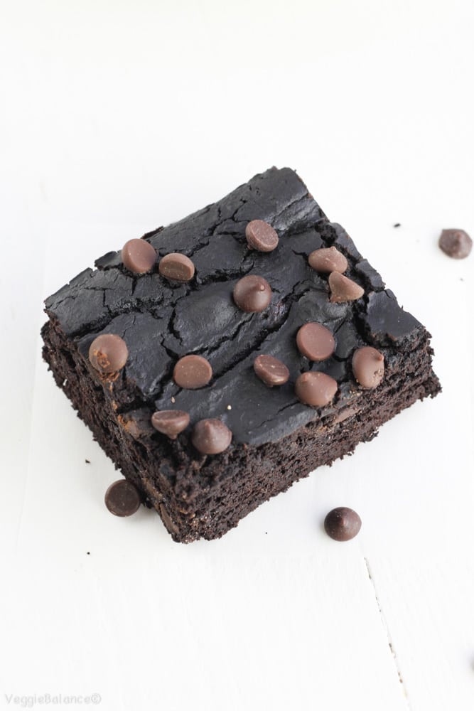 Black Bean Brownies Healthy Flourless - Veggiebalance.com