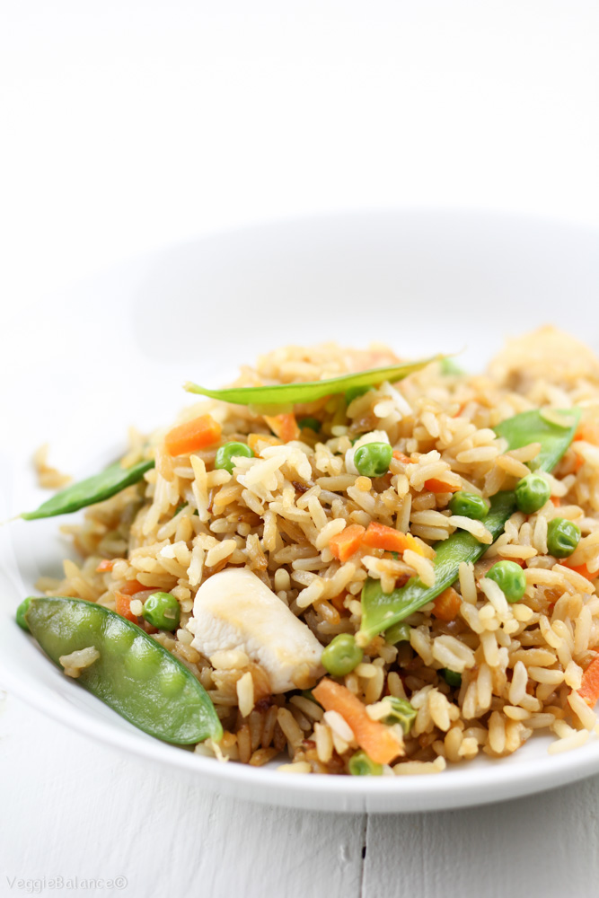 how to prepare chicken fried rice at home