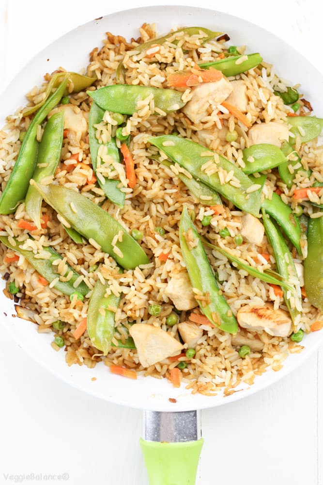 Gluten-Free Chicken Fried Rice recipe - Veggiebalance.com