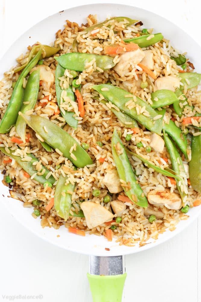 Gluten-Free Chicken Fried Rice recipe - Veggiebalance.com