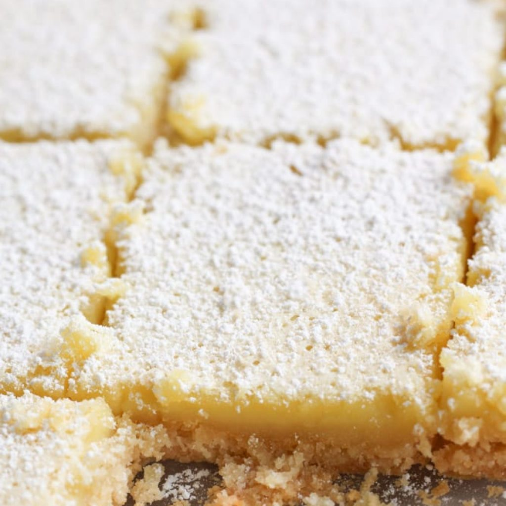 Healthy Lemon Bars (Gluten Free, Low Sugar)