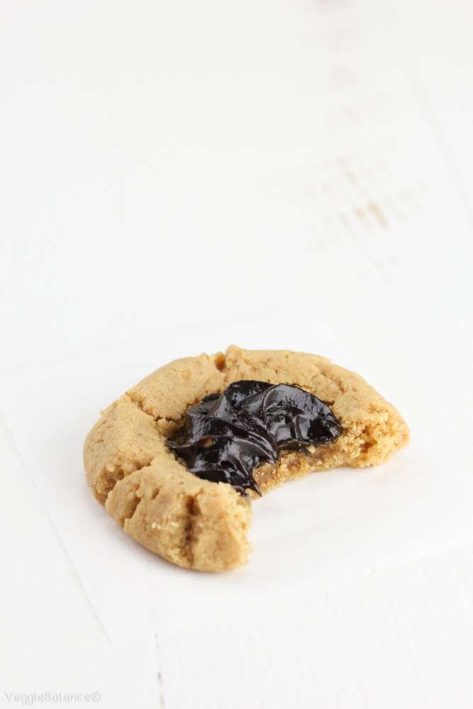 Peanut Butter Chocolate Thumbprint Cookies Recipe — Dishmaps