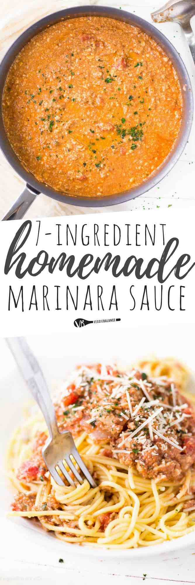 Easy Homemade Spaghetti Sauce made with all natural ingredients. Completely versatile sauce adapting to your tastes but adding your favorite ingredients like mushrooms, artichokes, olives! #glutenfree #homemade #dinnerrecipes #dinnerideas #vegan #veganrecipes #vegetarian #vegetarianrecipes #healthy #healthyrecipes