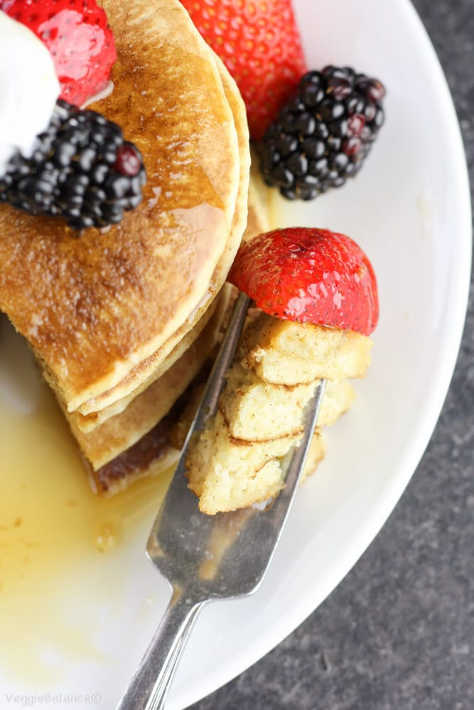 Best Gluten Free Buttermilk Pancakes recipe - Veggiebalance.com