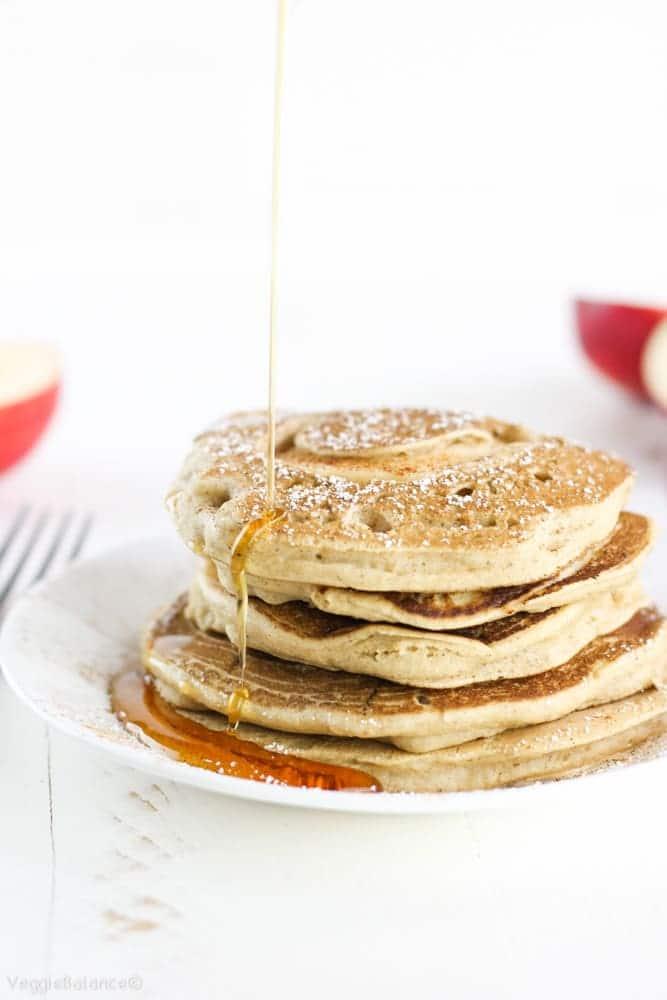 Gluten-Free Cinnamon Apple Pancakes - Veggiebalance.com