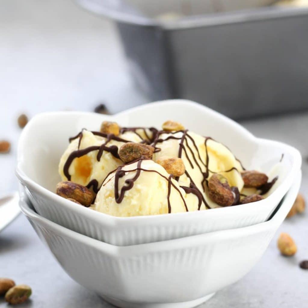 Honey Ice Cream without Ice Cream Maker