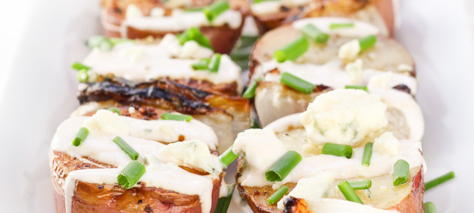Grilled Potatoes with Creamy Buffalo Dressing