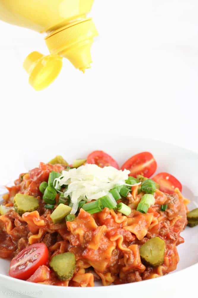 Easy Hamburger Casserole recipe - Veggiebalance.com