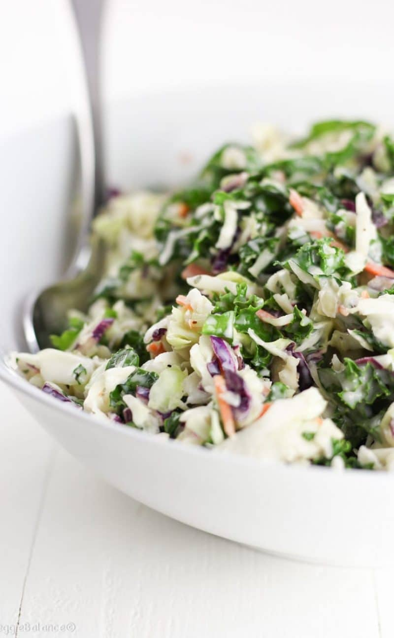 Healthy Coleslaw Recipe (Gluten Free, Vegan)