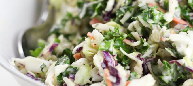 Healthy Coleslaw Recipe (Gluten Free, Vegan)