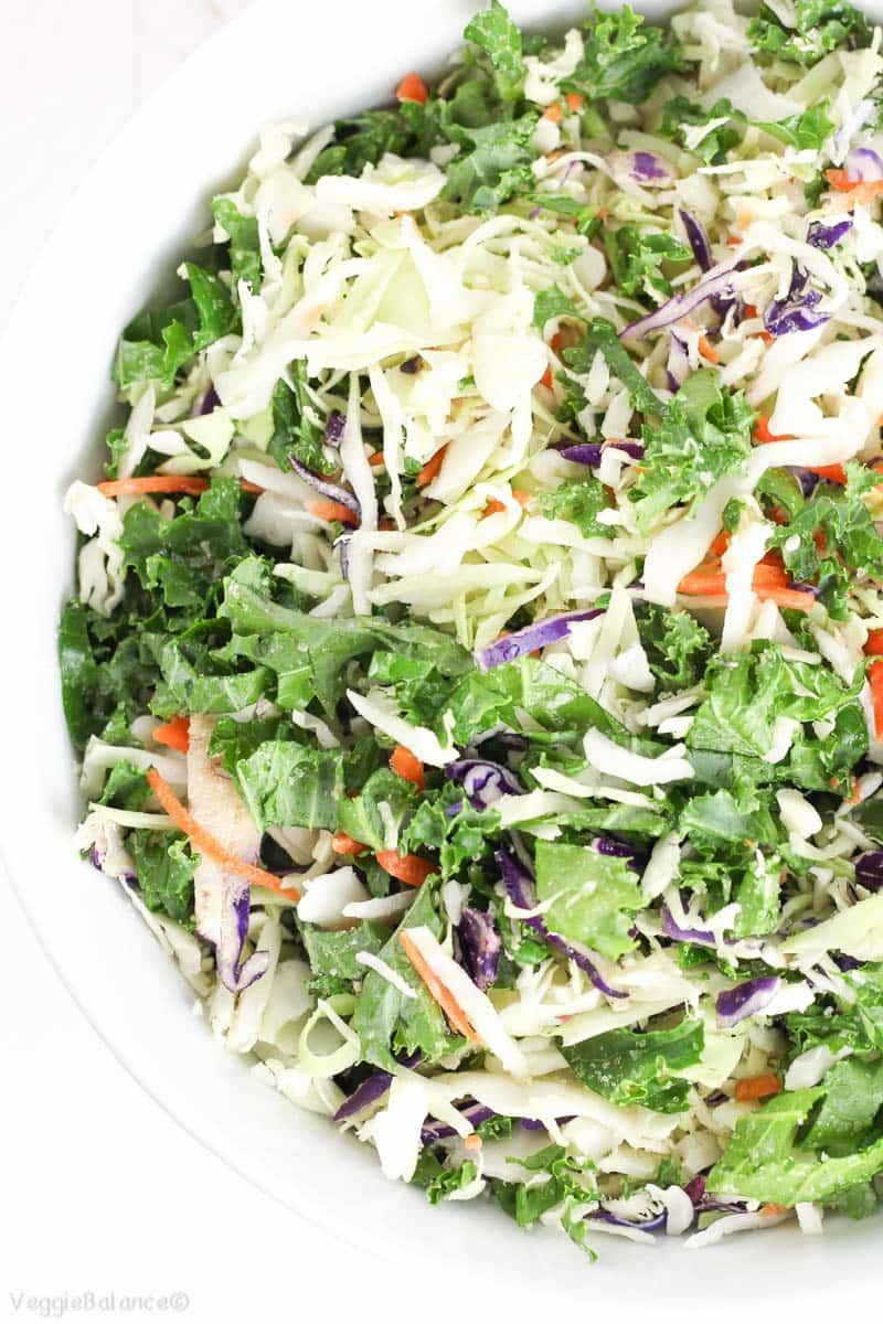 Healthy Coleslaw Recipe - Veggiebalance.com