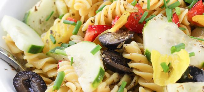 Healthy Italian Pasta Salad with Homemade Italian Dressing