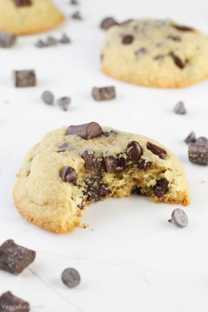 The Best Gluten-Free Chocolate Chip Cookies from Scratch - Veggiebalance.com