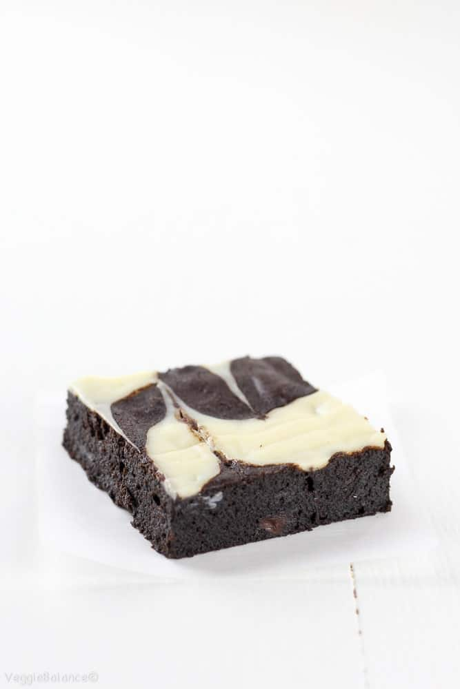 The Best Fudgy Brownies with Cream Cheese Swirl - Veggiebalance.com