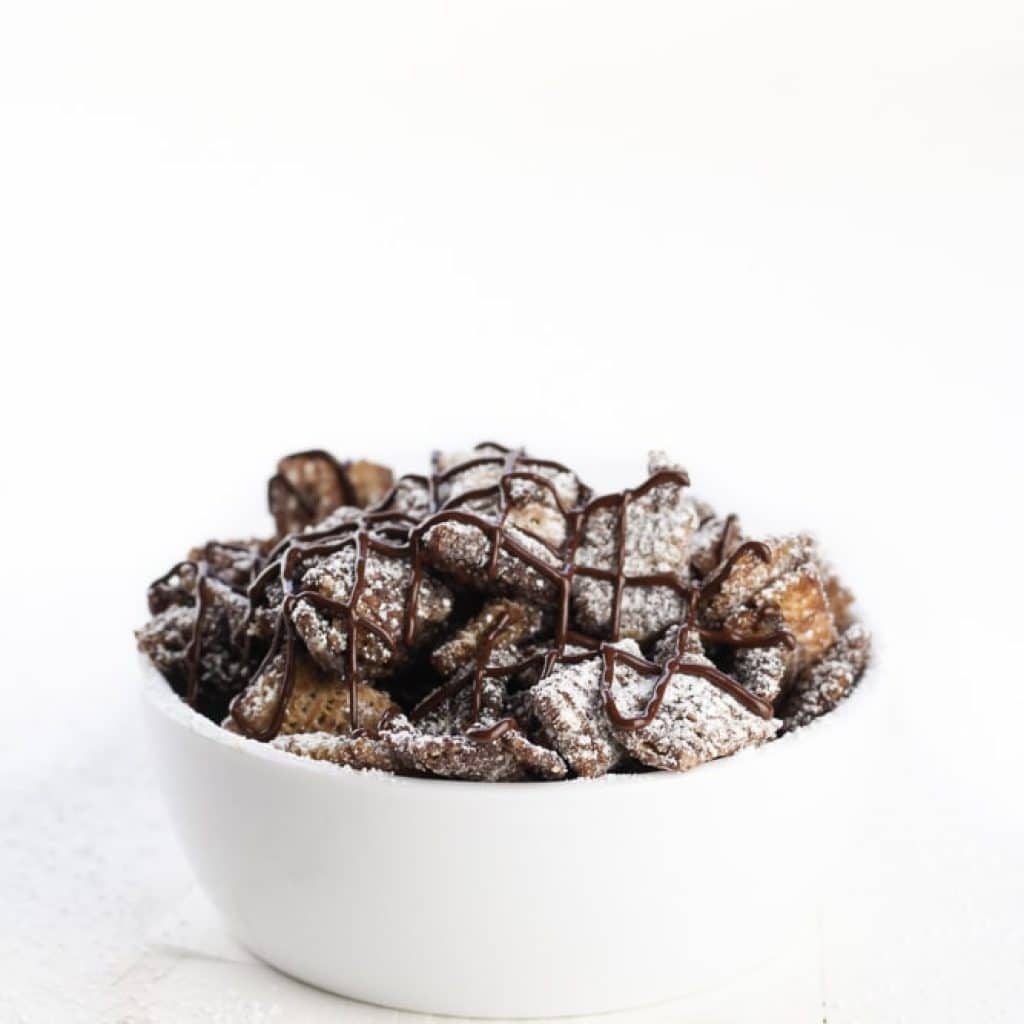Dark Chocolate Cinnamon Muddy Buddies
