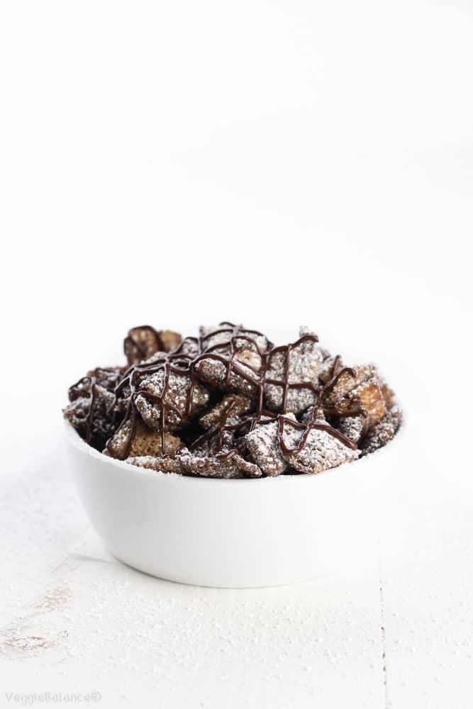 Vegan Dark Chocolate Cinnamon Muddy Buddies
