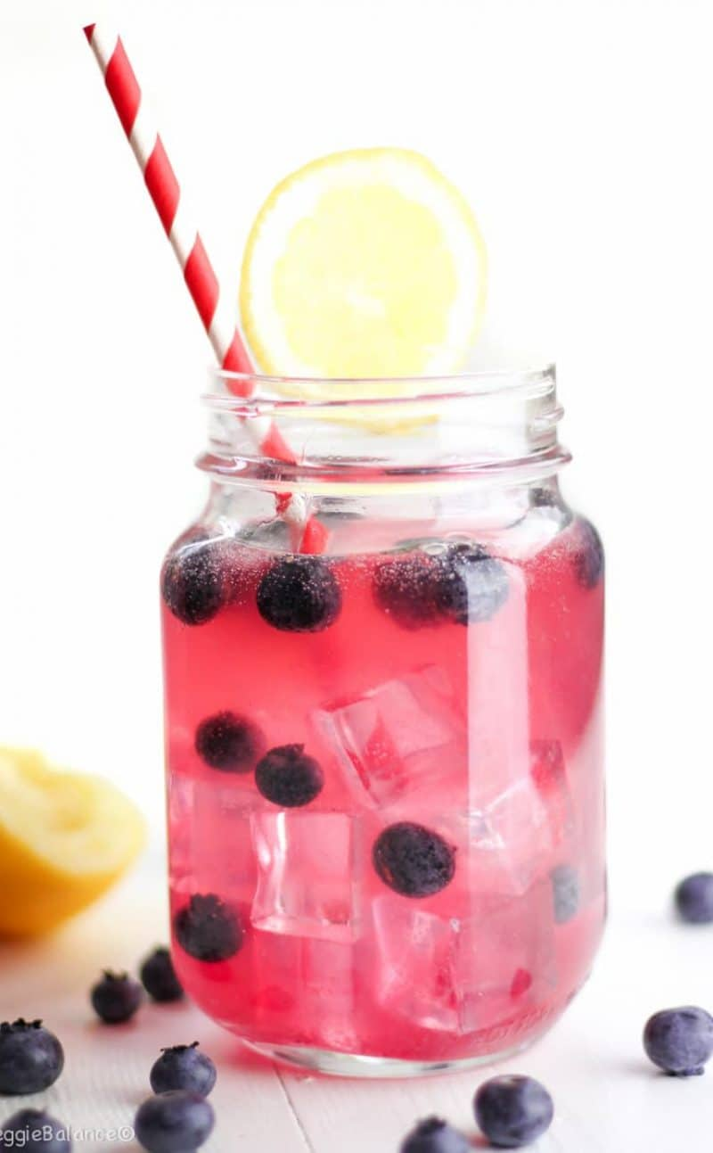 Blueberry Wine Spritzer