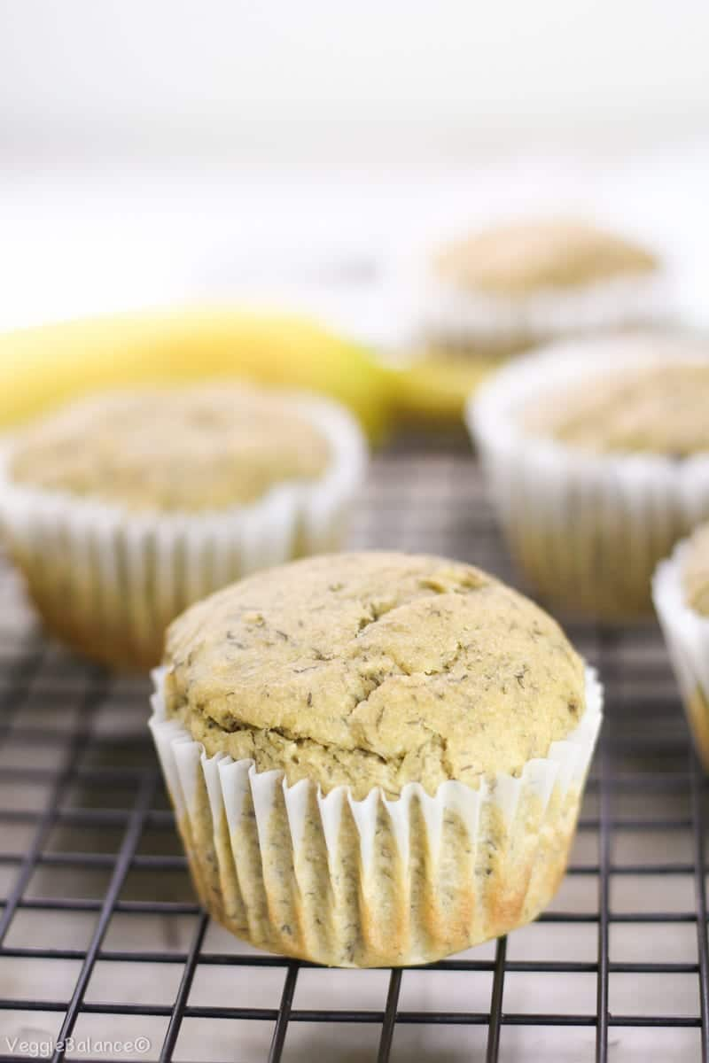 Gluten Free Banana Muffins Recipe Low-Sugar - Veggiebalance.com