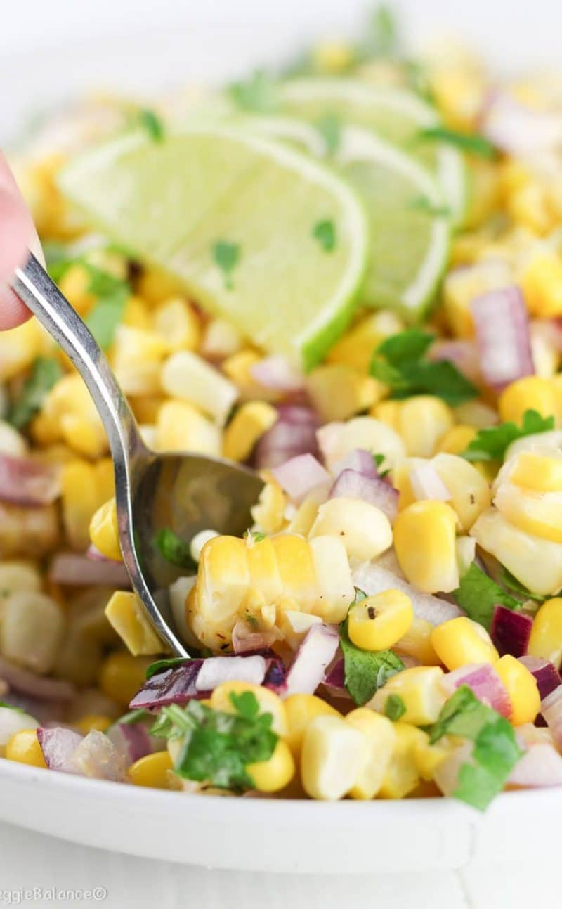 Summer Corn Salad made Healthy
