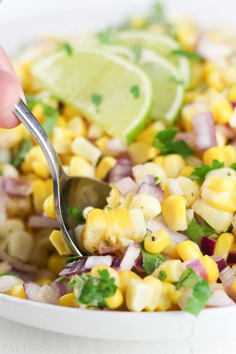 Summer Corn Salad Recipe - Veggiebalance.com