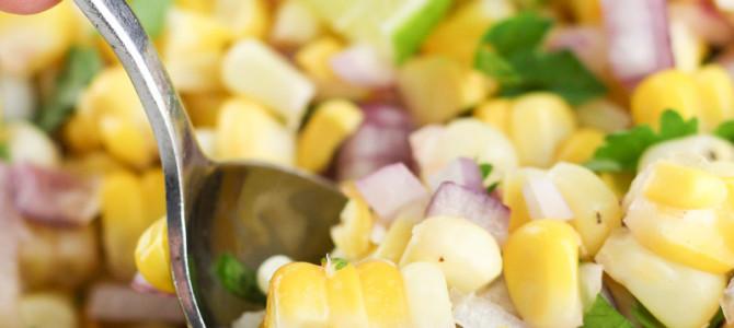 Summer Corn Salad made Healthy