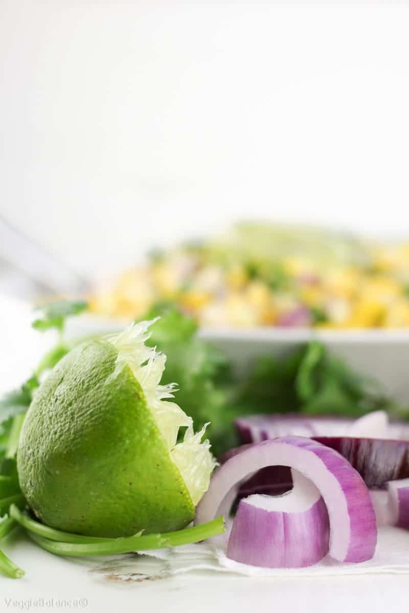 Summer Corn Salad Recipe - Veggiebalance.com