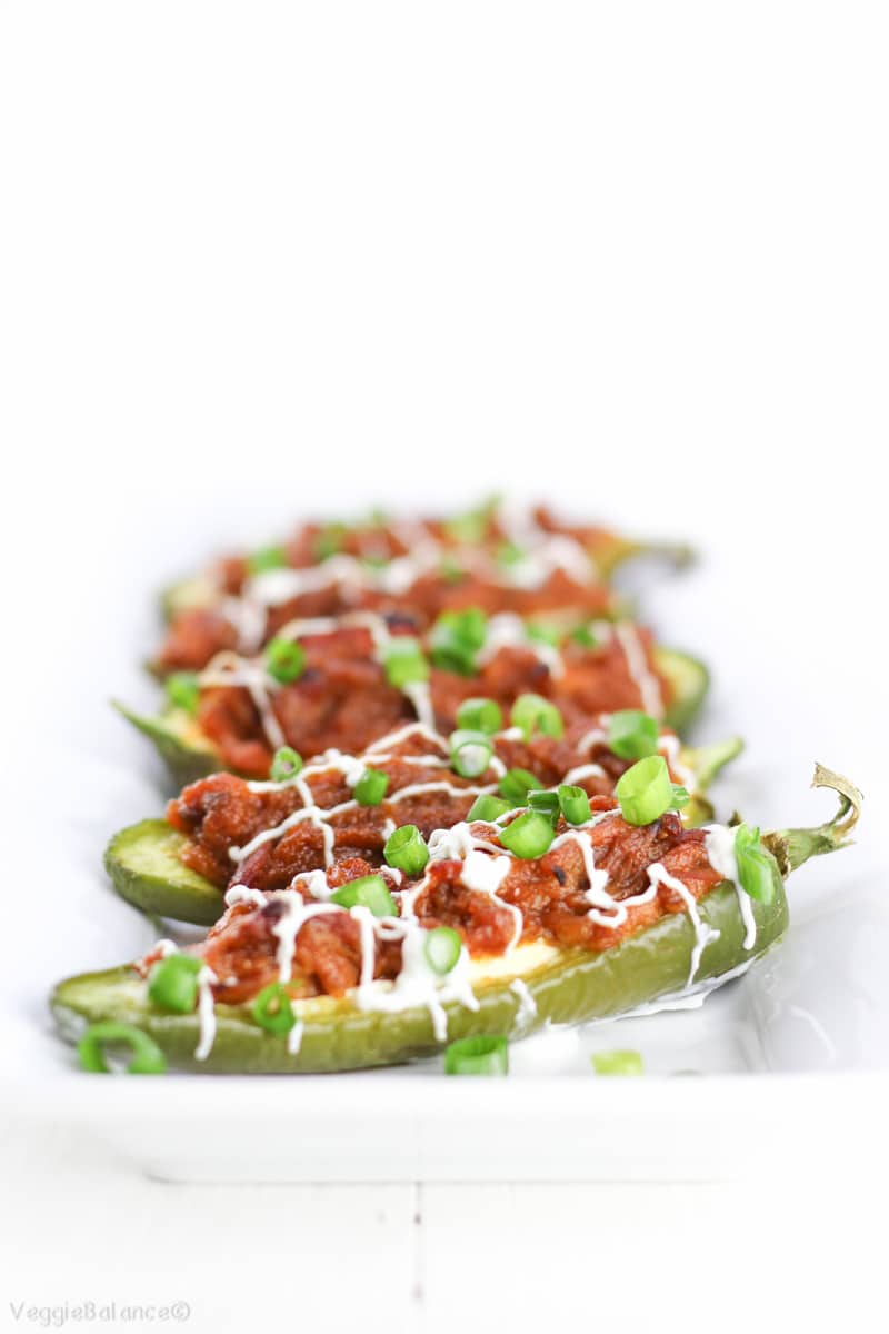 Pork Stuffed Jalapeños Peppers recipe - Veggiebalance.com